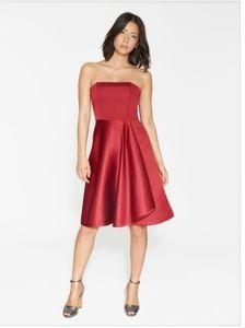 NWT Halston Heritage Strapless Satin Faille Dress